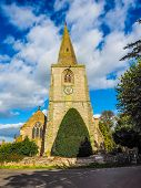 High dynamic range HDR Parish Church of St Mary Magdalene in Tanworth in Arden UK poster