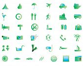 Biggest collection of different travel icons for using in web design poster