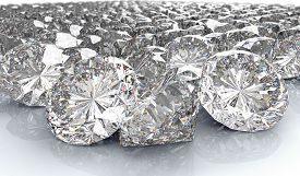 Lot Of Perfect Diamond Isolated On White