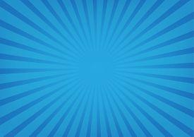 Sun rays vector sunburst on blue color background. Vector illustration background design.