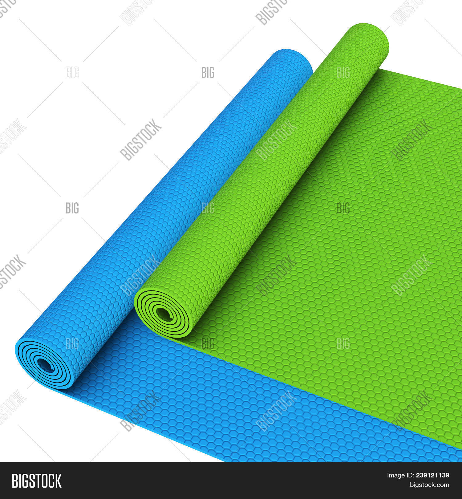 Half Rolled Yoga Image & Photo (Free Trial) | Bigstock