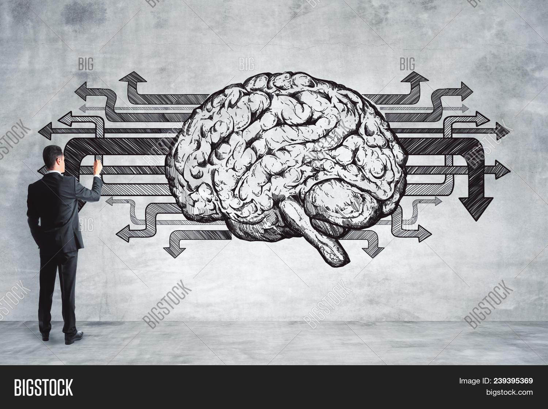 Creative Brain Drawing Art