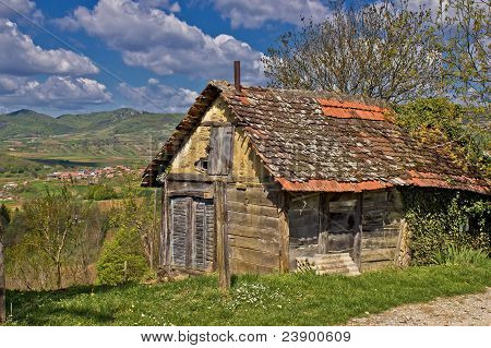 Beautiful Scenic Old Cottage In Mountain Region