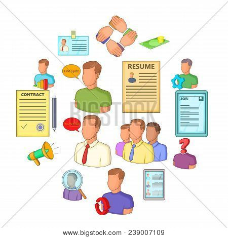 Human Resources Icons Set. Flat Illustration Of 16 Human Resources Vector Icons For Web