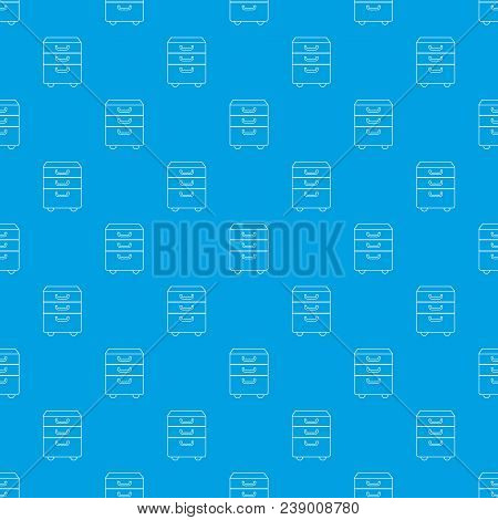 Office Closet Pattern Vector Seamless Blue Repeat For Any Use