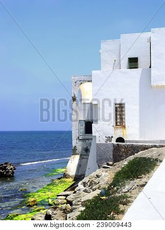 House On The Shores Of The Mediterranean Sea In The Town Of Mahdia. Tunisia