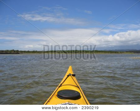 Canoe In The Ocean, New Zealand