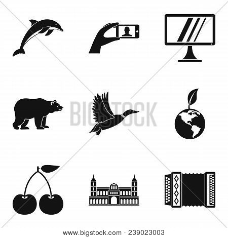 Discover World Icons Set. Simple Set Of 9 Discover World Vector Icons For Web Isolated On White Back