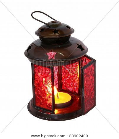 Decorative Lamp With A Conflagrant Candle