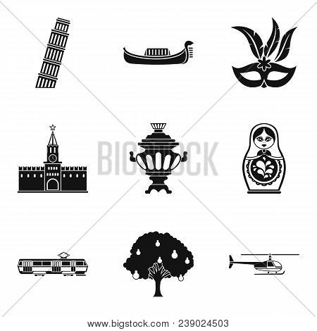 Cultural Difference Icons Set. Simple Set Of 9 Cultural Difference Vector Icons For Web Isolated On