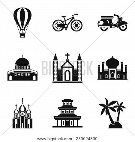 Cultural Distinction Icons Set. Simple Set Of 9 Cultural Distinction Vector Icons For Web Isolated O
