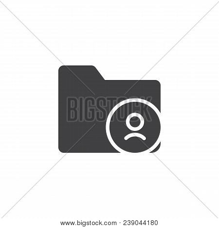 User Folder Vector Icon. Filled Flat Sign For Mobile Concept And Web Design. Personal Document Folde