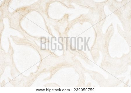 White self made paper pressed sheet texture background. Embossed lace pattern.