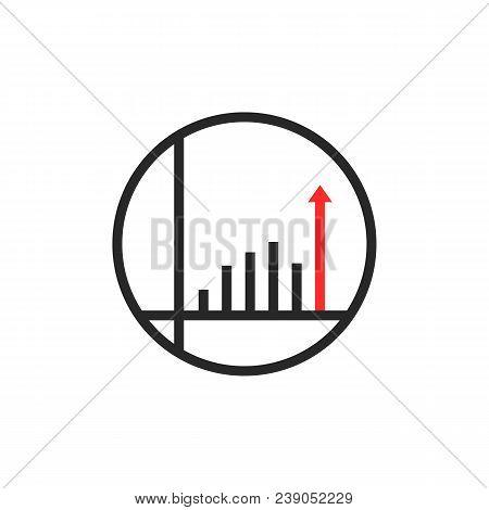 Unique Round Simple Success Logo. Concept Of Good Statistic Sign Like Investor Successful Future Goa