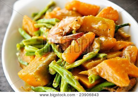Asian Vegetable Cuisine in Coconut Milk