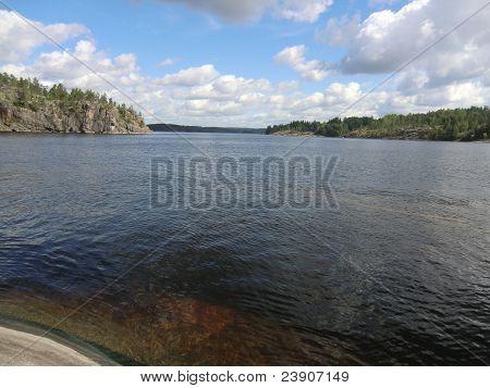 Gulf on Ladoga lake
