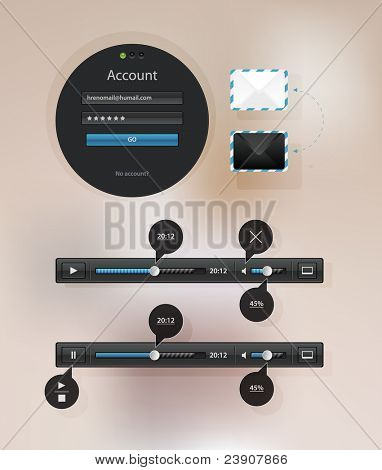 Information icon graphic interface for video playback