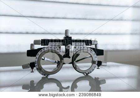 Eye Glasses In Ophthalmology Clinic