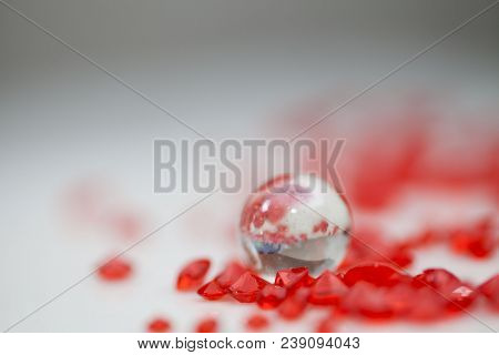 Beautiful background (red crystal strass ) for celebration occasions poster