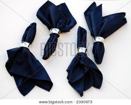Set Of Deep Blue Napkins