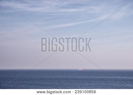 Several Cargo Ships In The Sea, Sky