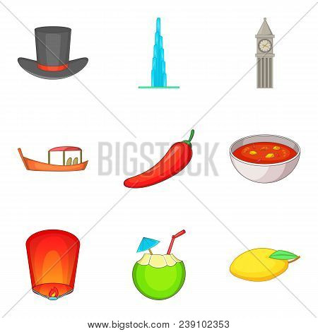 Mysterious World Icons Set. Cartoon Set Of 9 Mysterious World Vector Icons For Web Isolated On White