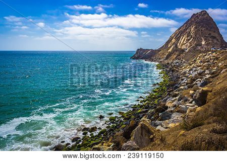 Rocky Shoreline View Of The Point Mugu Rock Along Pacific Coast Highway, Point Mugu, California