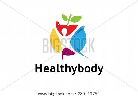 Creative Colorful Healthy Spiritual Body Logo Design Illustration