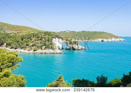 Apulia, Italy, Europe - Mediterranean Sea Around Grotta Della Campana Piccola