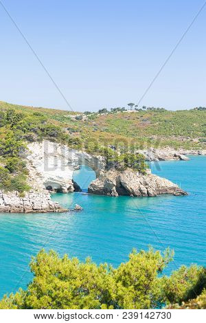 Apulia, Italy, Europe - Cliff Cut-out Of Grotta Della Campana Piccola