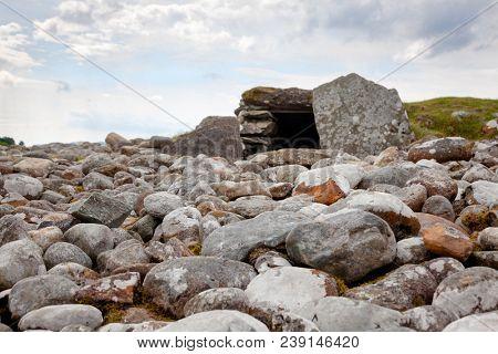 Neolithic South Chambered Cairn at Nether Largie prehistoric site  Kilmartin Glen near Kintyre, Argyll and Bute, Scotland, UK