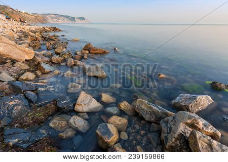 View At Sunset On A Bald Mountain Near The Village Of Supseh, Anapa, Russia