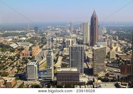 Paisagem urbana do centro da cidade de Atlanta