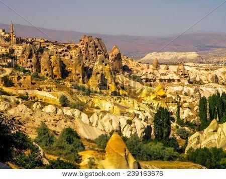 Landscape View Of Capadocia Sand Formations, Turkey