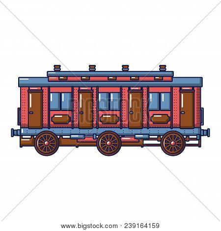 Medieval Passenger Wagon Icon. Cartoon Of Medieval Passenger Wagon Vector Icon For Web Design Isolat