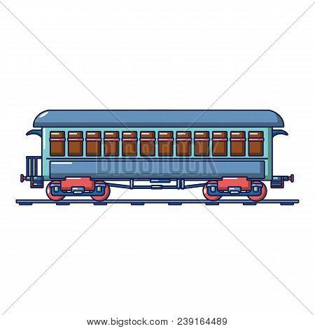 Vintage Passenger Wagon Icon. Cartoon Of Vintage Passenger Wagon Vector Icon For Web Design Isolated