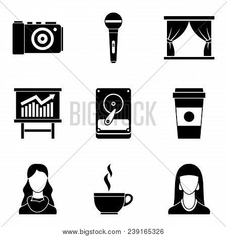 Penman Icons Set. Simple Set Of 9 Penman Vector Icons For Web Isolated On White Background
