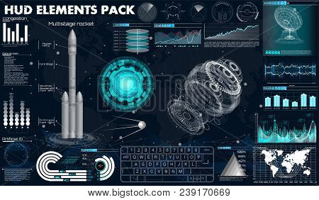 Space Launch Rockets, Instrument Panel, Grafics, Radars, Space Dish, Sensors, 3d Spaceship, In The H
