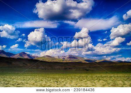 Chuya Prairie In Altai Mountains. Altay Republic, Siberia, Russia.