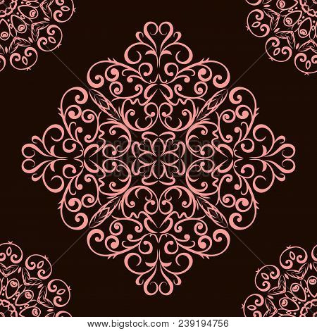 Decorative Flower Mandalas. Vintage, Ethnic Element. Oriental Pattern, Vector Illustration For Weddi