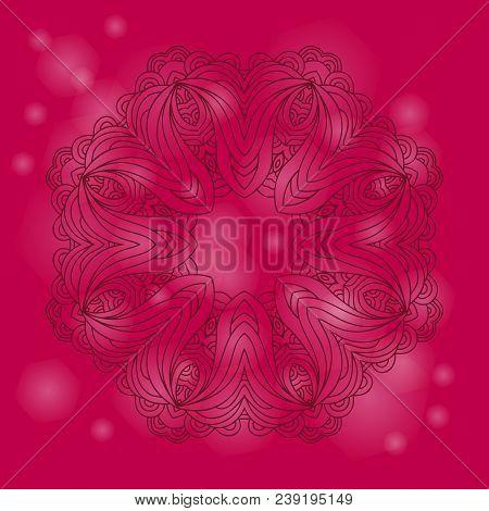Mandala  Round Ornament. Vector Mandala Print.vintage Decorative Elements. Hand Drawn Background.ara