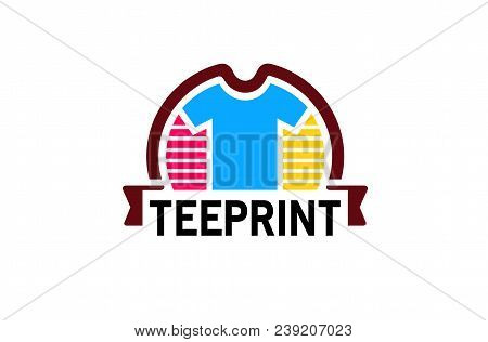 Creative Colorful Unique Tee Shirt Design Logo Illustration