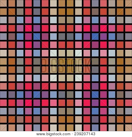 Abstract Square Pixelize Tiled Computer Generative Design