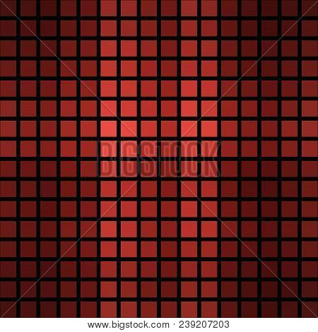 Burgundy Red Abstract Cubic Cubes Mosaic Square Tiles Design