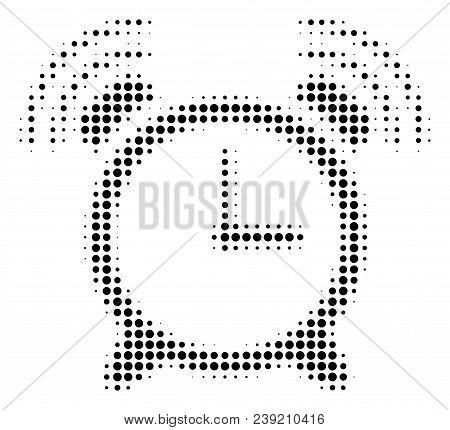 Dot Black Buzzer Icon. Vector Halftone Concept Of Buzzer Icon Designed From Circle Points.