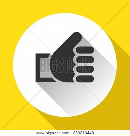 Thumbs Up, White Round Buttons On Color Background