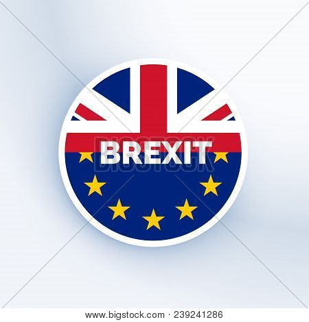 Brexit Symbol With Uk And Eu Flag