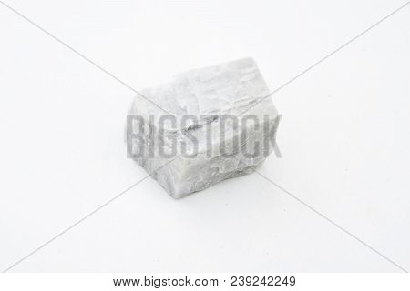 Calcite Mineral Isolated Over White