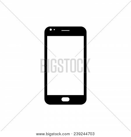 Smartphone Icon Vector In Modern Flat Style For Web, Graphic And Mobile Design. Smartphone Icon Vect