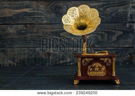 Vintage Phonograph Gramofon Music Box